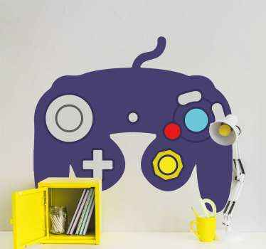 Decorative 3D Nintendo video game decal for teenagers and even for adult. This can be decorated on bedroom wall or game room wall space.