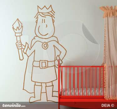Adesivo cameretta il re della casa