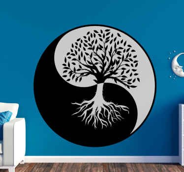 Ying yang style tree wall decal to customize the look on any space, it is easy to apply, original, self adhesive nd durable.