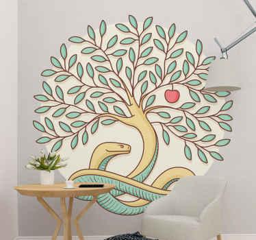 árvore incrível do autocolante de quarto relaxante do conhecimento. Peça seu vinis decorativos da árvore do conhecimento agora! Compre agora online! Fácil de aplicar! Entrega ao domicílio!