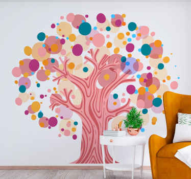 Tree of life multicolored tree wall stick - This decoration is a great idea to bring a sweet and wonderful atmosphere on the room of a kid, playroom.