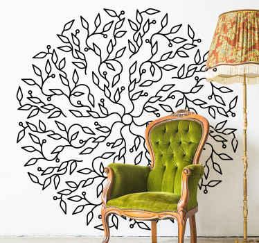 Simple mais un incroyable stickers d'arbre abstrait décoratif représentant l'arbre de vie. La couleur est personnalisable, elle est facile à appliquer