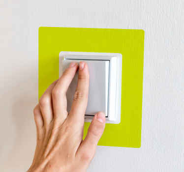 Phosphorescent light switch decal to beautify a light switch space. The design is a simple green colour and it lays smoothly around your switch.