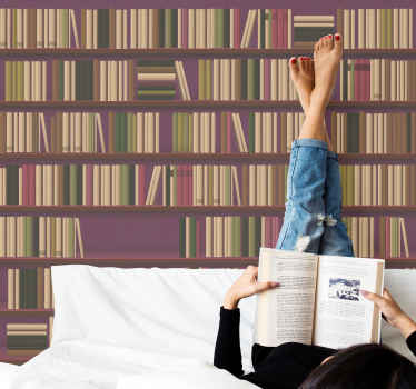 Vintage bookcase vintage stickers - If you are a great reader and fascinated with book shelf, then you can customized your space with this design.