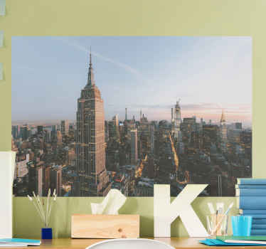 Bring the view of New York on your space with our original decorative cityscape wall decal.  Printed with an original vinyl, self adhesive, durable.