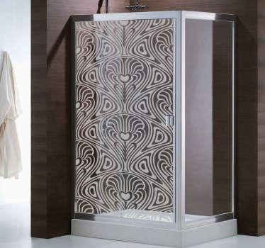 Moderne Kunst Duschwand Aufkleber