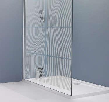 矩形图案淋浴贴纸