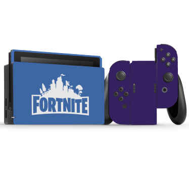 Fornite blue and purple Nintendo sticker - A design for lovers of fornite game! wrap any Nintendo console with this design in the right model options.