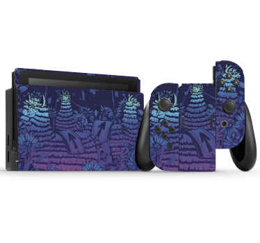 Wrap the surface of your Nintendo console with this decorative  Nintendo skin decal. Made with quality vinyl, self adhesive and easy to apply.