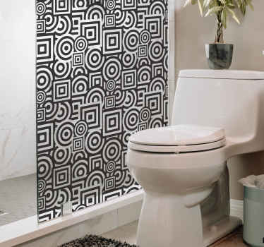 Concentric Shapes Shower Sticker