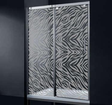 Zebra Duschwand Aufkleber