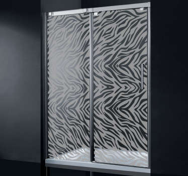 Adesivo decorativo duche padrão zebra