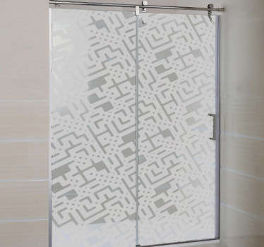 Give a modern touch to your shower with this design from our modern wall stickers collection! A bathroom decal for everyone!