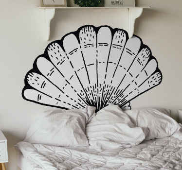 Autocollant de tête de lit de coquillage. Laissez une impression de vie marine sur votre chambre. Il est imprimé avec du sticker de qualité.