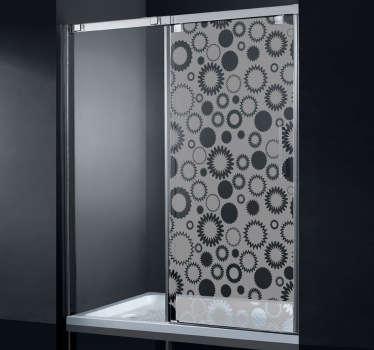 Naklejka dekoracyjna kwiaty na drzwi prysznicowe