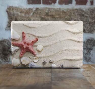 Quelle belle illustration d'animal de mer décoratif pour ordinateur portable - belle illustration réaliste d'étoile de mer avec des coquillages