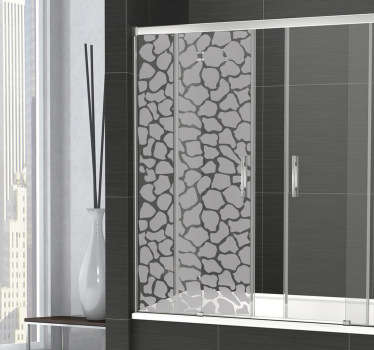 Modernise your bathroom decor while still maintaining some privacy with this fantastic shower sticker with a giraffe pattern design. Great bathroom sticker to give your shower a creative and original appearance! Super easy to apply and leaves no residue if removed.