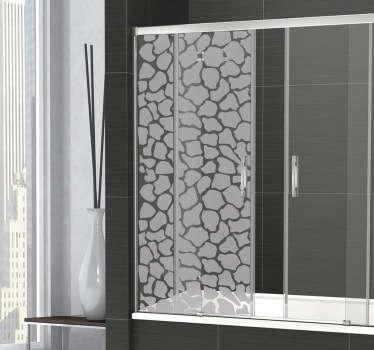 Naklejka drzwi prysznicowe żyrafa