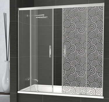 Preserve your intimacy in your bathroom with this original shower sticker representing various circular shapes.