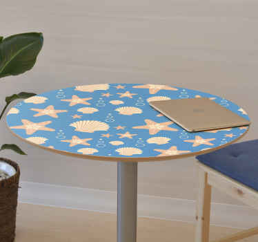 With our decorative sea life animal furniture decal you can wrap the surface of any furniture you want. Suitable for tables, benches, cupboards, etc.