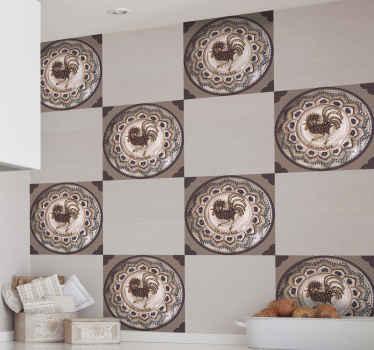 リアルな装飾ホレズセラミックタイルステッカー。これは、寝室、バスルーム、キッチン、その他のスペースの素晴らしい装飾になります。