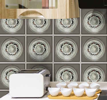 Beautiful decorative waterproof ornamental tile sticker for your kitchen wall, bathroom, toilet, dinning and other spaces.