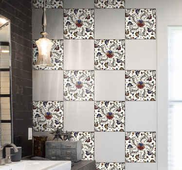 カラフルなホレズオーナメントタイルステッカー-この素敵なデザインで、キッチンスペース、バスルーム、その他のスペースの外観が大好きです。