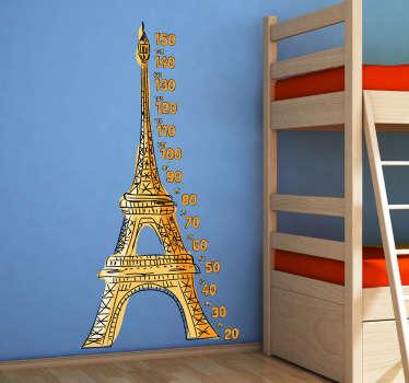 Sticker groeimeter Eiffeltoren