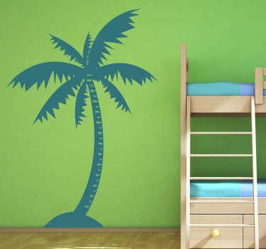 Kids Palm Tree Height Chart Sticker