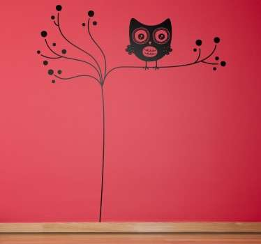 A creative and unique design from our exclusive owl wall stickers. A simple and original owl decal to decorate your home!