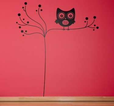 Wandtattoo Eule auf einem Baum