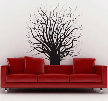 Wall Stickers - Distinctive floral feature ideal for decorating the home. Spooky inspired tree available in various colours and sizes.