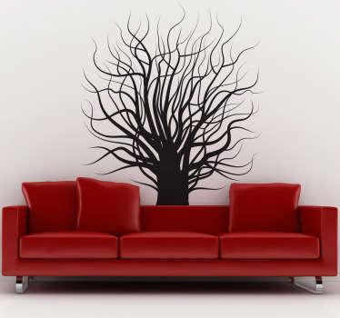 Stickers mural illustrant un arbre sans feuille.Sélectionnez les dimensions de votre choix.Idée déco originale et simple pour votre intérieur.