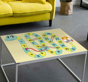 Decorate your table space with our original snakes and ladders furniture sticker. This board game furniture sticker is easy to apply and durable.