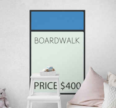 Do you love Monopoly? Then this is the furniture vinyl sticker you are looking for! So what are you waiting for? Buy your new furniture decal now!