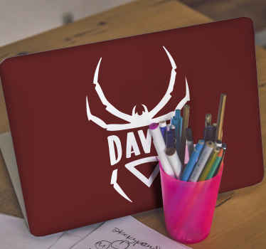 Spider emblem logo laptop skins to customize your laptop with a unique and creative artistic look. Easy to apply and durable.