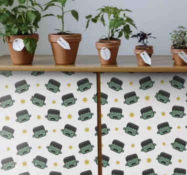 家の家具の表面を飾るためのベビーハルクパターンの家具デカール。適用が簡単で、サイズは任意の寸法にカスタマイズできます。