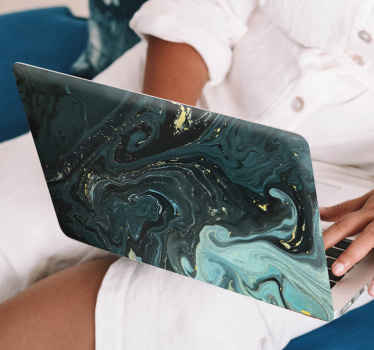 Dark green luxury marble laptop sticker that you would definitely love as your laptop skin cover. It textural look is lovely and easy to apply.