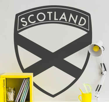 Scotland shield country sticker - Easy to apply country logo sticker that can be customize in any one of the solid colours available on our catalog.