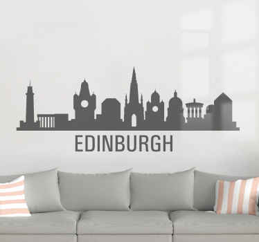 Edinburgh's skyline as a wall sticker for your living room! Choose your proffered size and gift it to your patriotic Scottish friend. Home delivery!