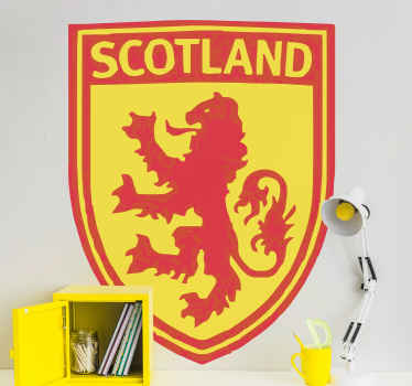 Scotland shield with Lion country sticker - You can decorate any flat surface with this decal because our stickers  adhere firmly on surface.