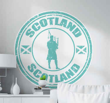 Decorate any flat surface with this Scotland stamp country decal to proudly show off Scotland. It is customizable and easy to apply.