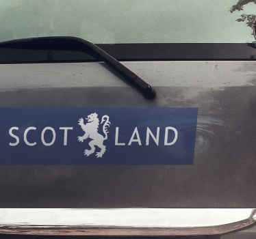 Scotland blue car sticker that you can stick to the door, window, bonnet or bumper space of your vehicle.  Made of quality, stick-able on any surface.