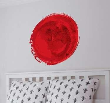 Sticker decorativo bandiera Giappone