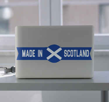 Made in Scotland laptop skins decal - Beautiful simple sticker for laptop to represent Scotland. Made with quality vinyl, easy to apply and durable.