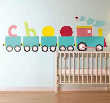 Sticker stoomtrein kinderen