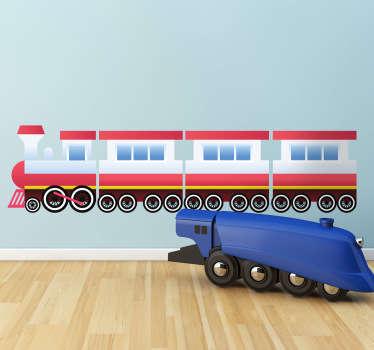 Adesivo bambini trenino giocattolo
