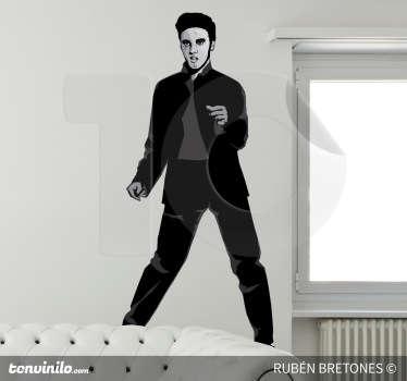 Sticker decorativo illustrazione Elvis