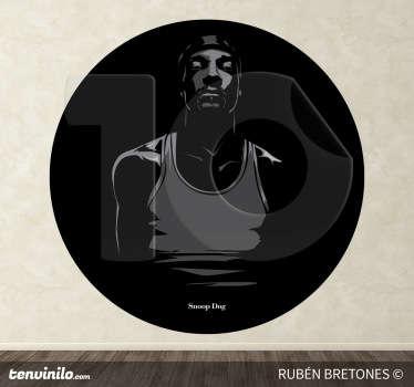 Sticker decorativo illustrazione Snoop Dog