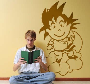 Adhesivo de corte del chaval de tenvinilo caracterizado del protagonista de Dragon Ball.